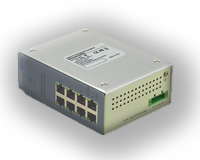 8 portos ipari 10/100 Ethernet switch